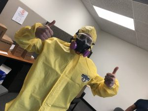 A Mold Cleanup Technician After a Successful Job